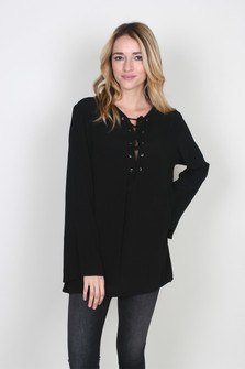 Lace Up L/S Tunic
