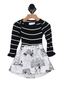 L/S Paris Abbie Dress w/ Attached Onesie (Infant)