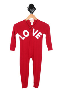 Love L/S Lounge Romper (Little Kid)