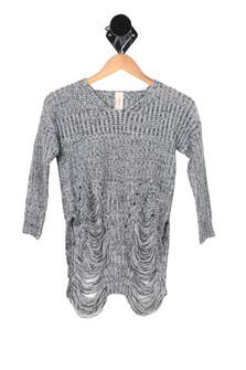 Distressed L/S Sweater (Big Kid)