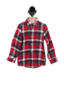 L/S Flannel Button Up Shirt (Little KId)