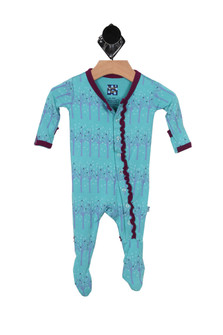 Printed Ruffle Footie Onesie (Infant)
