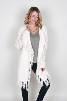 Cozy Up Open Front Cardigan