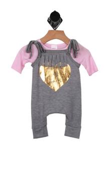 Heart Of Gold Jumpsuit Set (Infant)