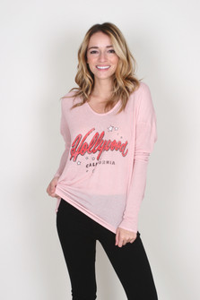 Hollywood V-Neck Dolman L/S Top