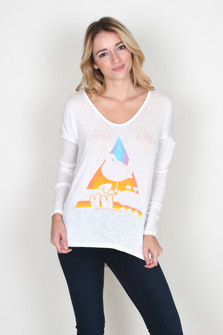 Woodstock V-Neck Dolman L/S Sweater