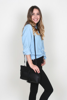 Flap Over Clutch w/ Detachable Strap