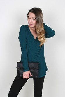 Fold-Over Clutch w/ Chain