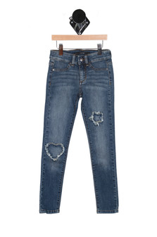 Insert Patch Denim Legging (Toddler/Little/Big)