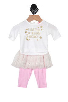 Moon & Back Skirt Set (Infant)