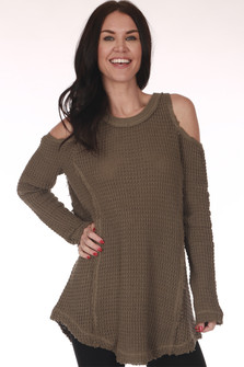 Peek-A-Boo Cold Shoulder Sweater