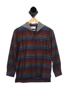 L/S Baja Flannel Button Up w/ Hood (Big Kid)