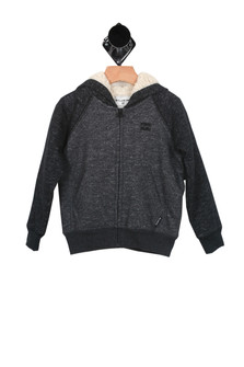 Sherpa Lined Jersey Hoody (Toddler/Little Kid)