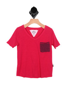 Front Pocket V-Neck Tee (Little/Big Kid)