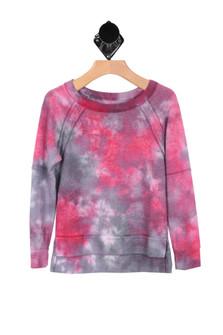 L/S Tie-Dye Crew Neck Sweater (Little/Big Kid)