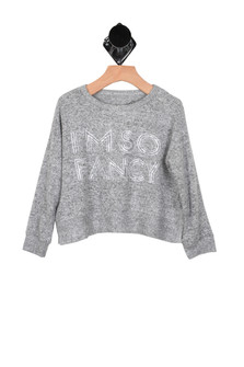 I'm So Fancy L/S Brushed Jersey Sweater (Little/Big Kid)