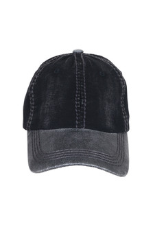 Two-Toned Baseball cap with dark grey stitching one size fits most with adjustable backing