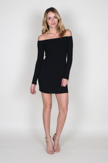 Rib Knit Karl Dress