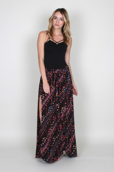 Remember Me Tie Front Maxi Skirt