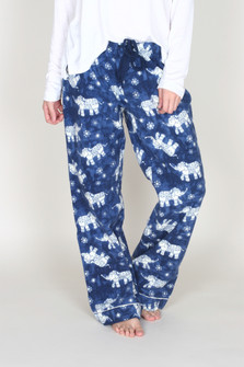 Batik-Dyed Elephant Flannel Pants