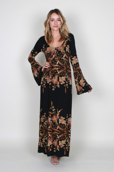 Midnight Garden Midi Dress