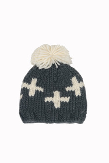 PomPom Criss Cross Beanie (Infant)