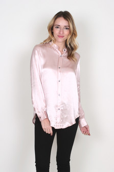 Satin Blouse w/ Open Back