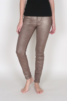 Coated Janice Mid-Rise Ultra Skinny