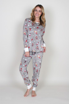Winter Dogs Fleece PJ Set