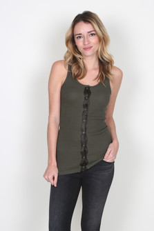 Button Front Tank