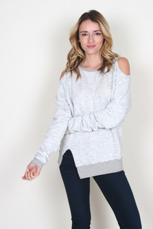 Cozy Cold-Shoulder Sweatshirt