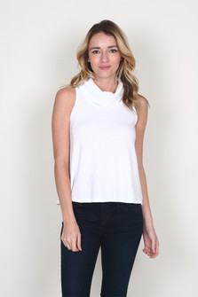Cowl Neck Cropped Tank