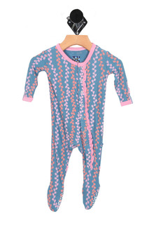 Print Muffin Ruffle Footie (Infant)