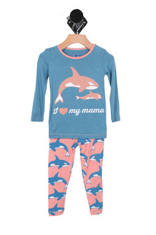 Print L/S Pajama Set (Toddler)