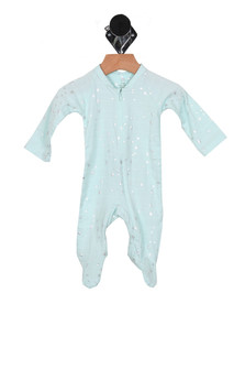 Shiny Stars Zip Up One Piece (Infant)