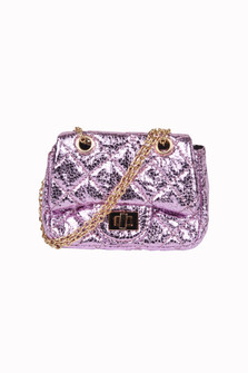 Metallic Quilted Crossbody Bag w/ Chain Strap (Toddler/Little)