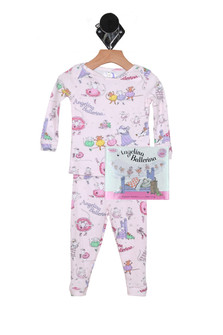 Angelina Ballerina PJ Set & Matching Bedtime Story (Infant/Toddler/Little Kid)