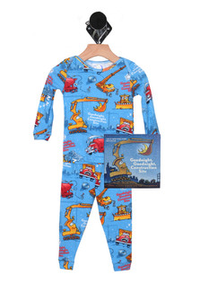 Construction Site PJ Set & Matching Bedtime Story (Infant/Toddler/Little Kid)