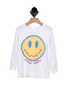 Calm Down Smiley Pullover (Little/Big Kid)
