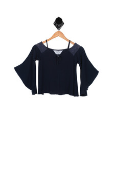 Bell Sleeve Peasant Top (Little/Big Kid)