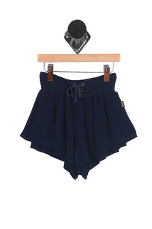 Lace Up Flowy Shorts (Little/Big Kid)