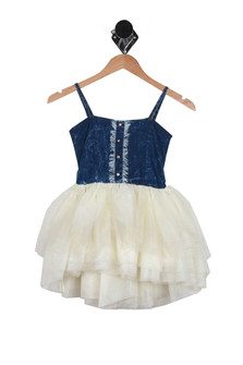Denim Bodice Tu-Tu Dress (Little Kid)