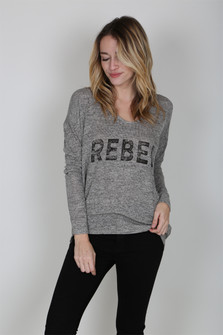 Rebel V-Neck Sweater