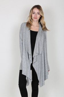 Open Draped Made In USA Cardigan