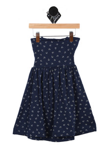 Anchor Print W/ Open Back Dress (Little Kid)