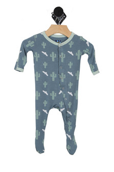 Printed Cactus Footie Onesie (Infant)