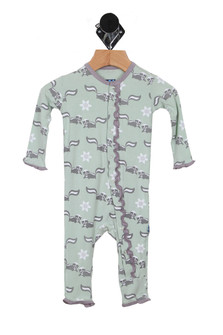 Printed Skunk Muffin Ruffle Coverall (Infant)