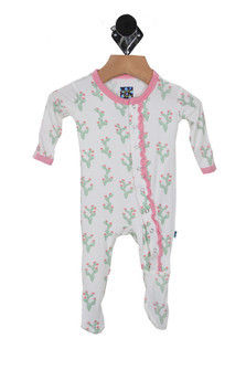 Sunshine & Cactus Muffin Ruffle Footie (Infant)