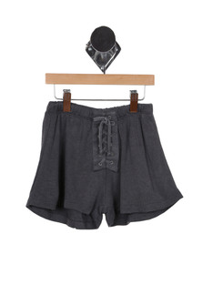 Lace Up Shorts (Big Kid)