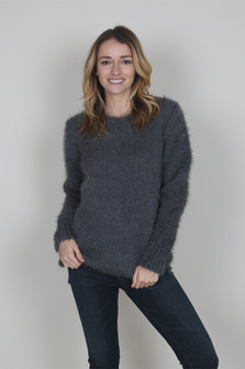 Chunky Knit Sweater w/ Zipper Detail